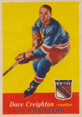 1957 Topps Dave Creighton #66 Hockey Card