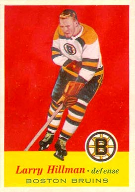 1957 Topps Larry Hillman #17 Hockey Card