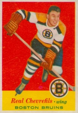 1957 Topps Real Chevrefils #1 Hockey Card