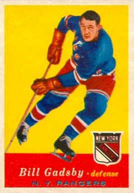 1957 Topps Bill Gadsby #65 Hockey Card