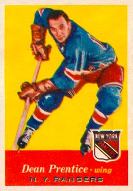 1957 Topps Dean Prentice #62 Hockey Card