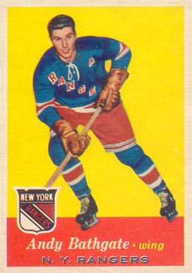 1957 Topps Andy Bathgate #60 Hockey Card