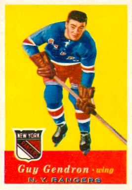1957 Topps Jean-Guy Gendron #52 Hockey Card