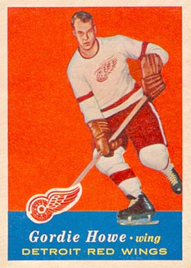 1957 Topps Gordie Howe #42 Hockey Card
