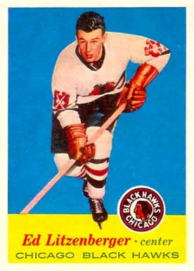 1957 Topps Ed Litzenberger #26 Hockey Card