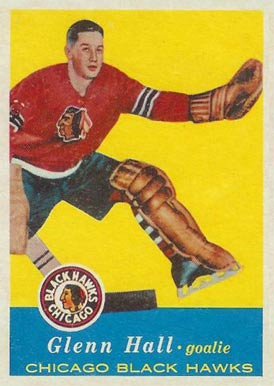 1957 Topps Glenn Hall #20 Hockey Card