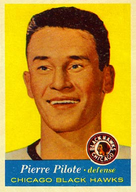 1957 Topps Pierre Pilote #22 Hockey Card