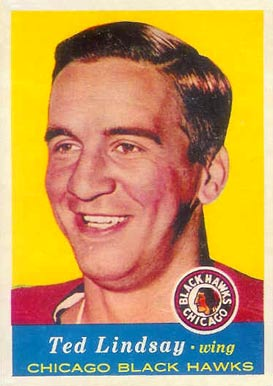 1957 Topps Ted Lindsay #21 Hockey Card