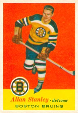 1957 Topps Allan Stanley #15 Hockey Card