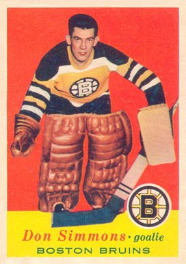 1957 Topps Don Simmons #14 Hockey Card