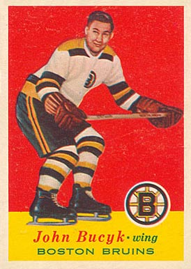 1957 Topps Johnny Bucyk #10 Hockey Card