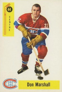 1958 Parkhurst Don Marshall #44 Hockey Card