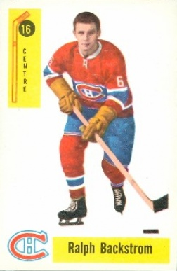 1958 Parkhurst Ralph Backstrom #16 Hockey Card