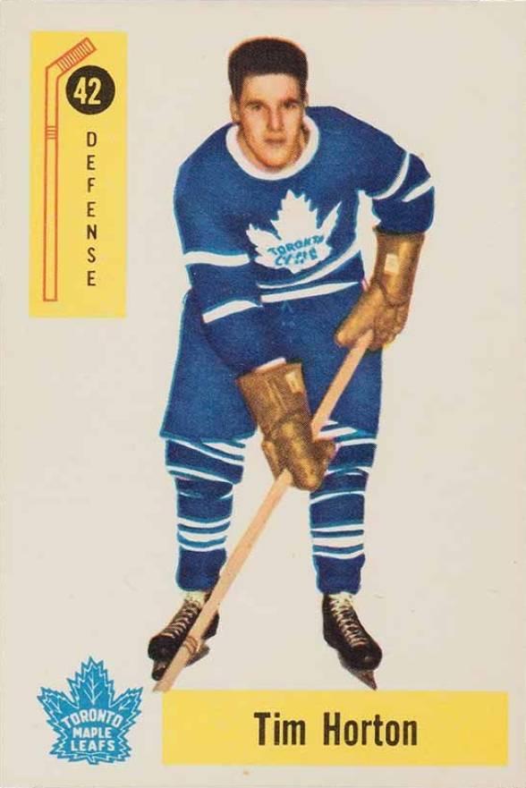 1958 parkhurst tim horton 42 hockey card value price guide