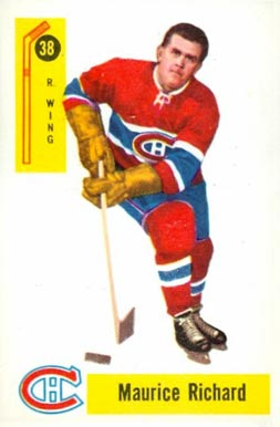 1958 Parkhurst Maurice Richard #38 Hockey Card