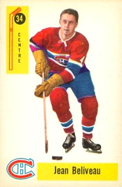 1958 Parkhurst Jean Beliveau #34 Hockey Card