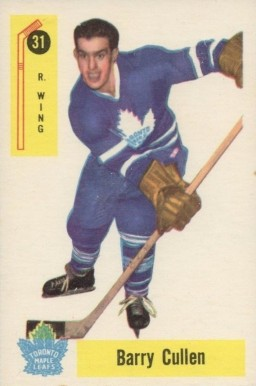 1958 Parkhurst Barry Cullen #31 Hockey Card