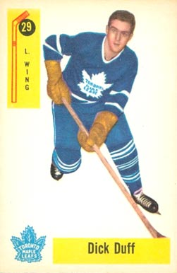 1958 Parkhurst Dick Duff #29 Hockey Card