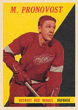 1958 Topps Marcel Pronovost #24 Hockey Card