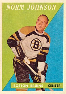 1958 Topps Norm Johnson #17 Hockey Card