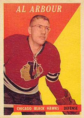 1958 Topps Al Arbour #64 Hockey Card