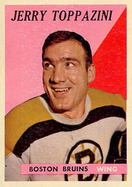 1958 Topps Jerry Toppazzini #45 Hockey Card