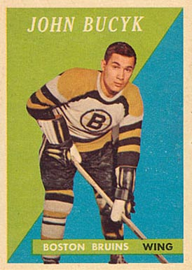 1958 Topps Johnny Bucyk #40 Hockey Card
