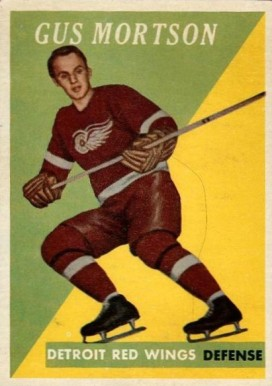 1958 Topps Gus Mortson #38 Hockey Card