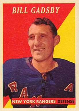 1958 Topps Bill Gadsby #34 Hockey Card