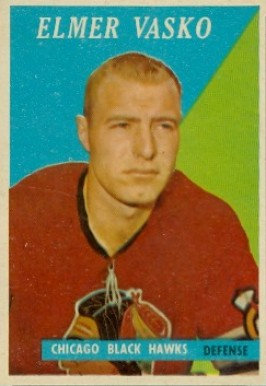 1958 Topps Elmer Vasko #12 Hockey Card
