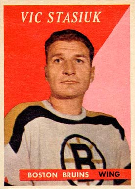 1958 Topps Vic Stasiuk #9 Hockey Card