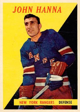 1958 Topps John Hanna #7 Hockey Card