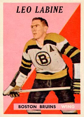 1958 Topps Leo Labine #4 Hockey Card