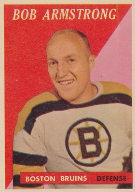1958 Topps Bob Armstrong #1 Hockey Card