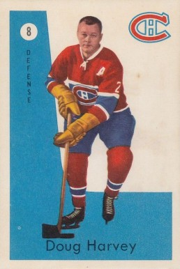 1959 Parkhurst Doug Harvey #8 Hockey Card