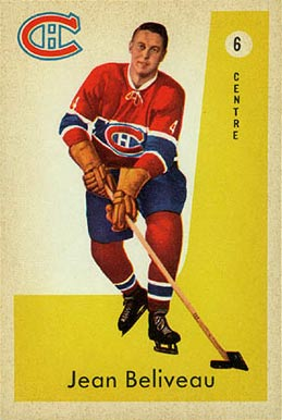 1959 Parkhurst Jean Beliveau #6 Hockey Card
