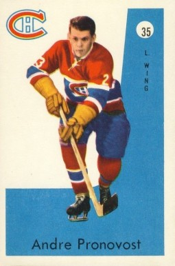 1959 Parkhurst Andre Pronoost #35 Hockey Card