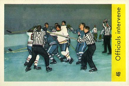 1959 Parkhurst Officials Intervene #46 Hockey Card