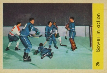 1959 Parkhurst Johnny Bower #25 Hockey Card