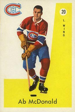 1959 Parkhurst Ab McDonald #20 Hockey Card