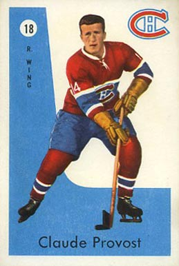 1959 Parkhurst Claude Provost #18 Hockey Card