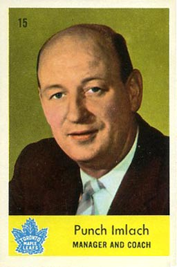 1959 Parkhurst Punch Imlach #15 Hockey Card