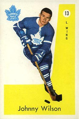 1959 Parkhurst Johnny Wilson #13 Hockey Card