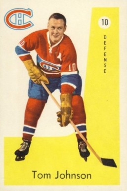 1959 Parkhurst Tom Johnson #10 Hockey Card