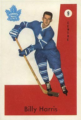 1959 Parkhurst Billy Harris #9 Hockey Card