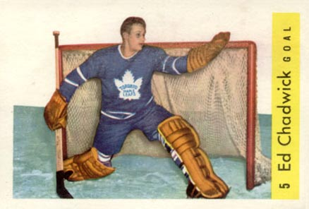 1959 Parkhurst Ed Chadwick #5 Hockey Card