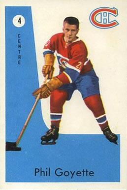 1959 Parkhurst Phil Goyette #4 Hockey Card