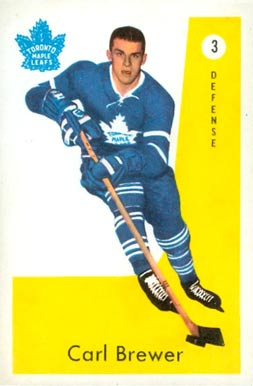 1959 Parkhurst Carl Brewer #3 Hockey Card