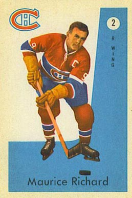 1959 Parkhurst Maurice Richard #2 Hockey Card