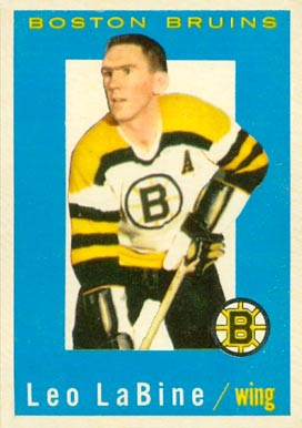 1959 Topps Leo Labine #7 Hockey Card
